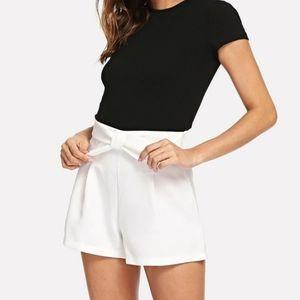Shein   Bow waist shorts
